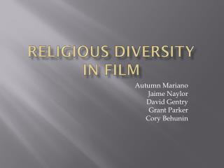 Religious diversity in film