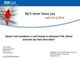 M asuri anti-avoidance si anti-frauda in domeniul TVA- Efecte concrete sau doar birocratie?