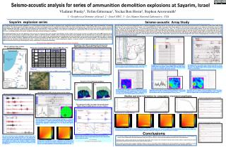 Seismo-acoustic analysis for series of  ammunition demolition explosions at Sayarim, Israel