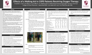 Effects of a Walking Aid in COPD Patients Receiving Oxygen Therapy