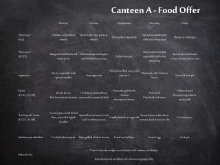 Canteen  A  - Food Offer