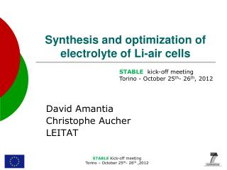 Synthesis and optimization of electrolyte of Li-air cells