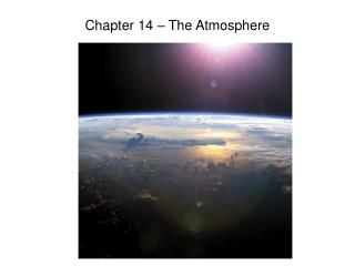Chapter 14 atmosphere