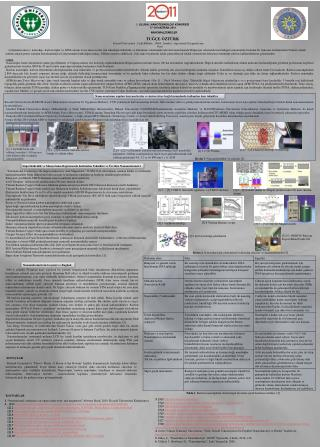 I. ULUSAL NANOTEKNOLOJİ KONGRESİ 17-18 HAZİRAN 2011