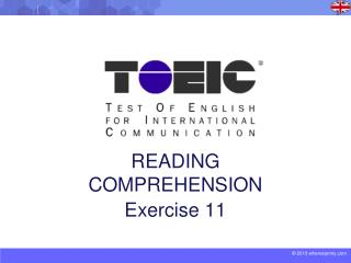 READING COMPREHENSION Exercise 11