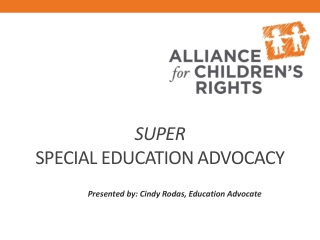 Chapter One:  Overview of Today s Special Education