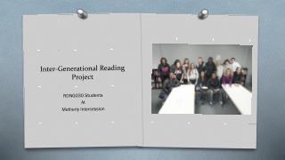 Inter-Generational Reading Project