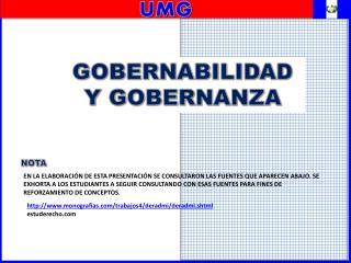 GOBERNABILIDAD Y GOBERNANZA