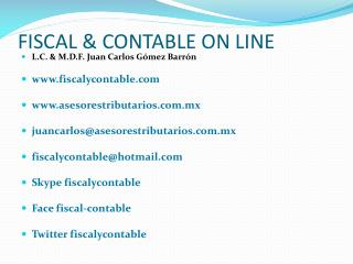 FISCAL & CONTABLE ON LINE