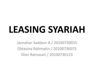 LEASING SYARIAH