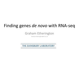 Finding genes  de novo  with RNA- seq