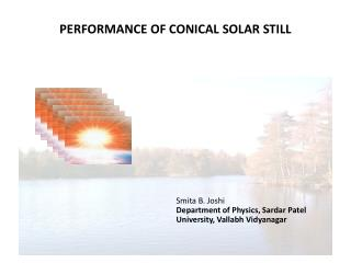 PERFORMANCE OF CONICAL SOLAR STILL