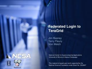 Federated Login to TeraGrid