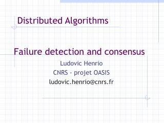 Failure detection  and consensus
