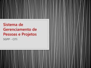 Sistema de Gerenciamento de Pessoas e Projetos