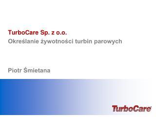 TurboCare Sp. z o.o.  Określanie żywotności turbin parowych