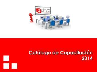 Catálogo de Capacitación 2014