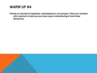 Warm Up #4