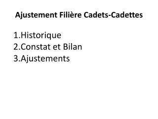 Ajustement Filière Cadets-Cadettes