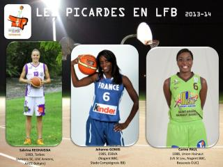 LES PICARDES EN LFB  2013-14