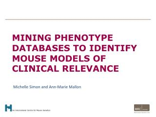 Mining phenotype databases to identify mouse models of clinical relevance