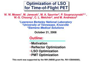 Optimization of LSO for Time-of-Flight PET