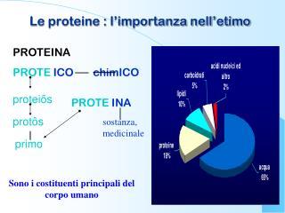 Le proteine : l'importanza nell'etimo
