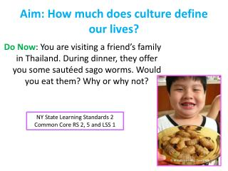 Aim: How much does culture define our lives?