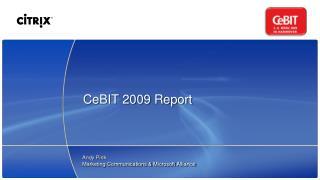 CeBIT 2009 Report