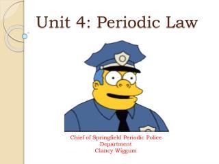 Unit 4: Periodic Law