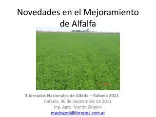 Novedades en el Mejoramiento de Alfalfa
