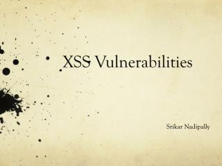 XSS Vulnerabilities