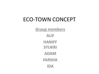 ECO-TOWN CONCEPT