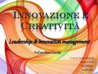 Innovazione e Creatività