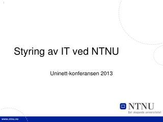 Styring av IT ved NTNU