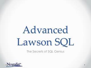 Advanced Lawson SQL