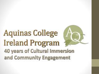 Aquinas College Ireland Program