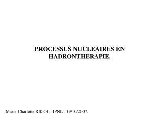 Marie-Charlotte RICOL - IPNL - 19