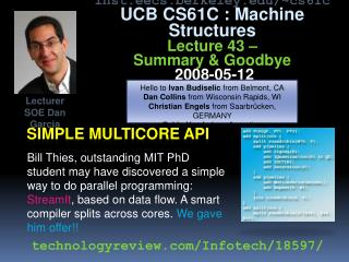 Simple  multicore  API