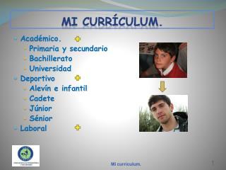 Mi curr�culum.