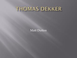 Thomas Dekker