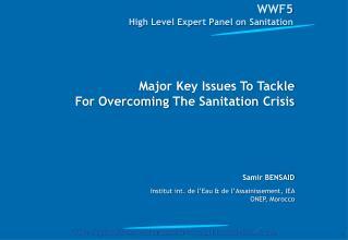 WWF5  High  Level  Expert Panel on  Sanitation