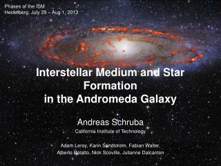 Interstellar Medium and  Star Formation in the Andromeda Galaxy