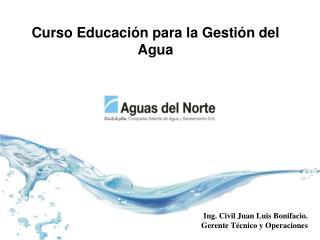 Curso Educación para la Gestión del Agua