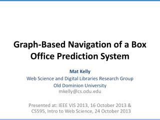 Graph-Based Navigation of a Box Office Prediction System