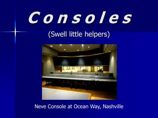 Consoles ppt.