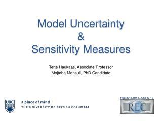 Model  Uncertainty & Sensitivity Measures