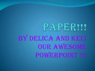 Paper!!!
