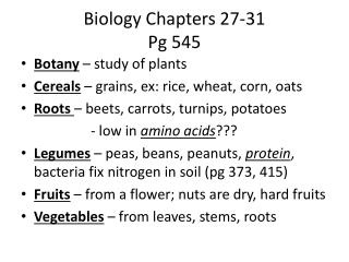 Biology Chapters 27-31 Pg 545
