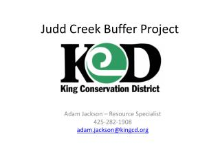 Judd Creek Buffer Project